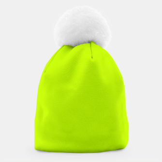 Miniatur Bitter Lime Neon Green Yellow Solid Color Beanie, Live Heroes