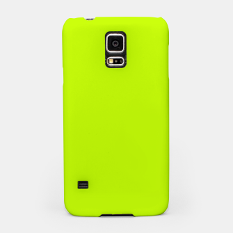 Bitter Lime Neon Green Yellow Solid Color Samsung Case imagen en miniatura