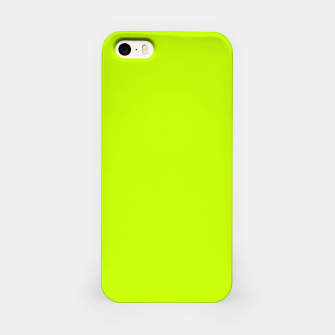 Bitter Lime Neon Green Yellow Solid Color iPhone Case imagen en miniatura