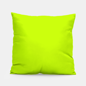 Bitter Lime Neon Green Yellow Solid Color Pillow imagen en miniatura