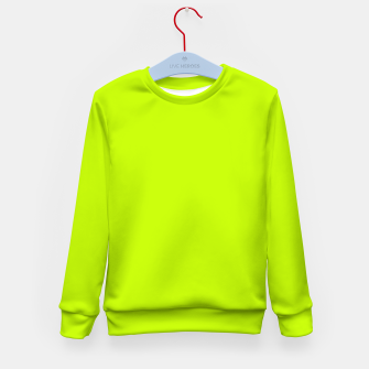 Miniatur Bitter Lime Neon Green Yellow Solid Color Kid's sweater, Live Heroes