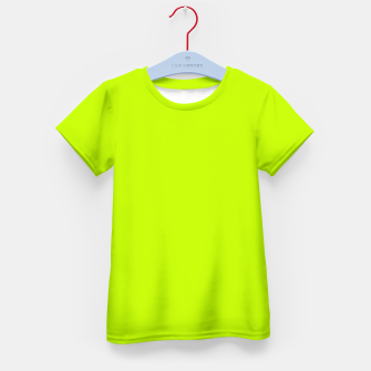 Bitter Lime Neon Green Yellow Solid Color Kid's t-shirt imagen en miniatura