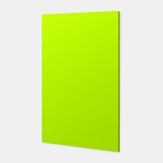 Bitter Lime Neon Green Yellow Solid Color Canvas imagen en miniatura