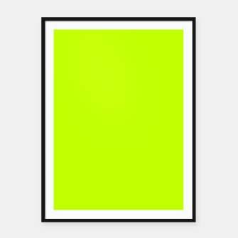Bitter Lime Neon Green Yellow Solid Color Framed poster imagen en miniatura