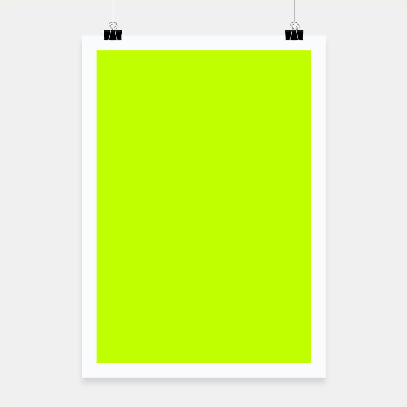 Foto Bitter Lime Neon Green Yellow Solid Color Poster - Live Heroes