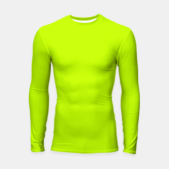 Thumbnail image of Bitter Lime Neon Green Yellow Solid Color Longsleeve rashguard , Live Heroes