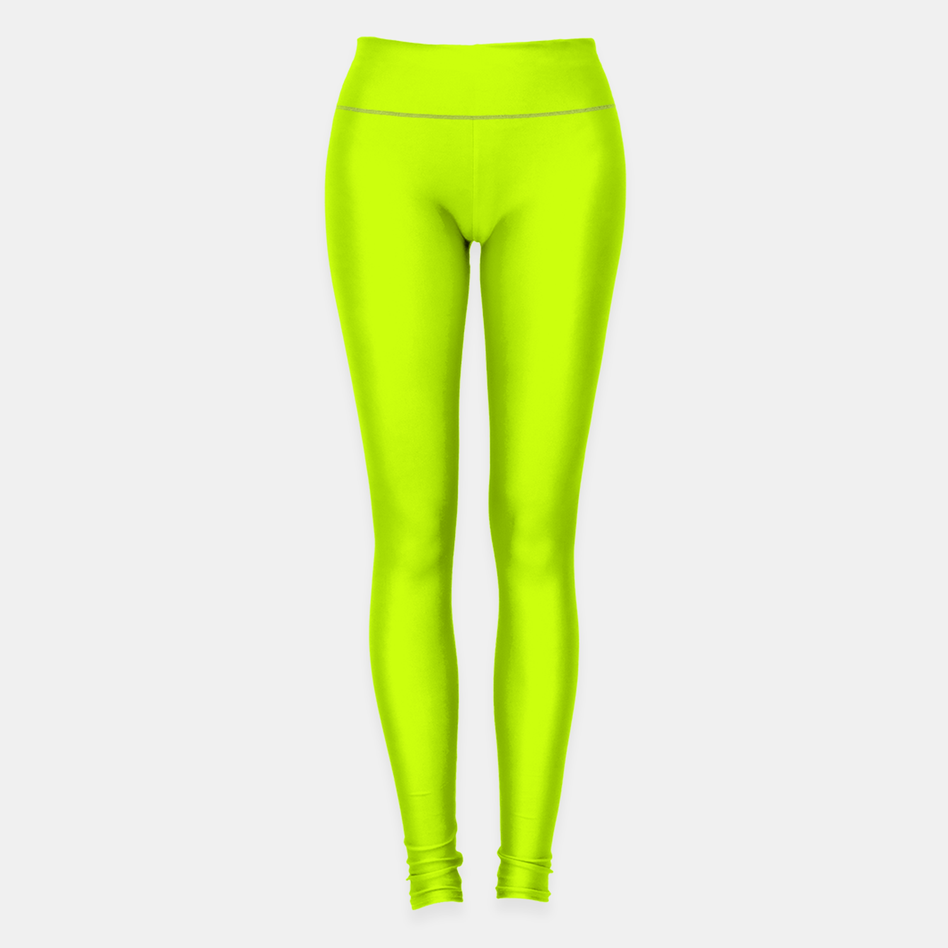 Foto Bitter Lime Neon Green Yellow Solid Color Leggings - Live Heroes
