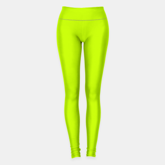 Bitter Lime Neon Green Yellow Solid Color Leggings imagen en miniatura