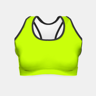 Bitter Lime Neon Green Yellow Solid Color Crop Top imagen en miniatura