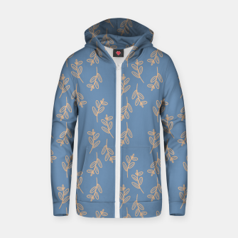 Thumbnail image of Feeling of lightness II - Steel Blue Zip up hoodie, Live Heroes