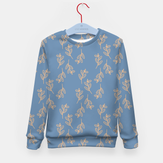 Thumbnail image of Feeling of lightness II - Steel Blue Kid's sweater, Live Heroes