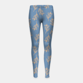 Thumbnail image of Feeling of lightness II - Steel Blue Girl's leggings, Live Heroes