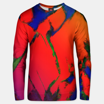 Thumbnail image of Colliding panels red Unisex sweater, Live Heroes