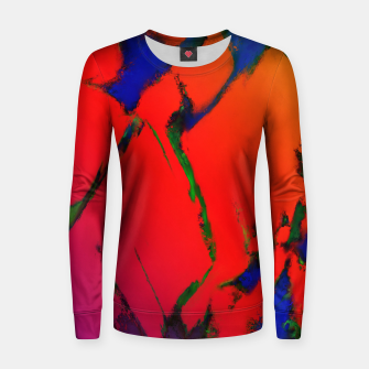 Thumbnail image of Colliding panels red Women sweater, Live Heroes
