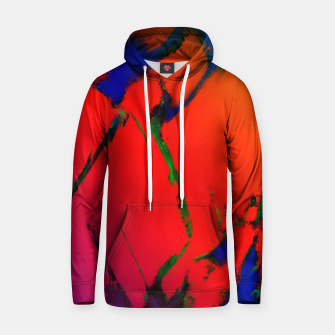 Thumbnail image of Colliding panels red Hoodie, Live Heroes