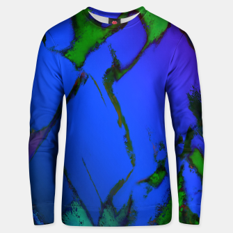 Thumbnail image of Colliding panels blue Unisex sweater, Live Heroes