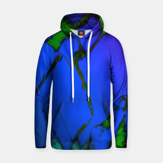 Thumbnail image of Colliding panels blue Hoodie, Live Heroes