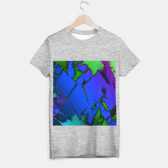 Thumbnail image of Colliding panels blue T-shirt regular, Live Heroes