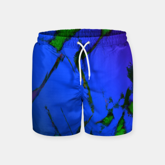 Thumbnail image of Colliding panels blue Swim Shorts, Live Heroes