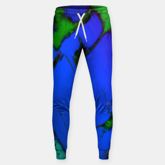 Thumbnail image of Colliding panels blue Sweatpants, Live Heroes