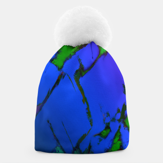 Thumbnail image of Colliding panels blue Beanie, Live Heroes