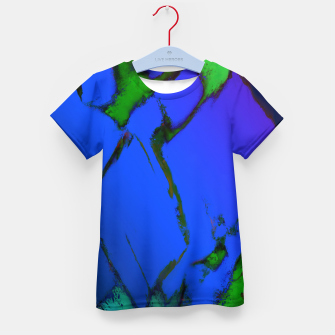 Thumbnail image of Colliding panels blue Kid's t-shirt, Live Heroes