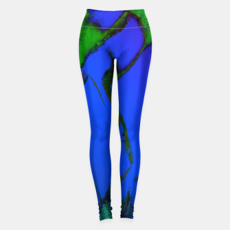Thumbnail image of Colliding panels blue Leggings, Live Heroes