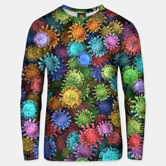Сolorful viruses Unisex sweater miniature