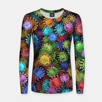 Сolorful viruses Women sweater miniature