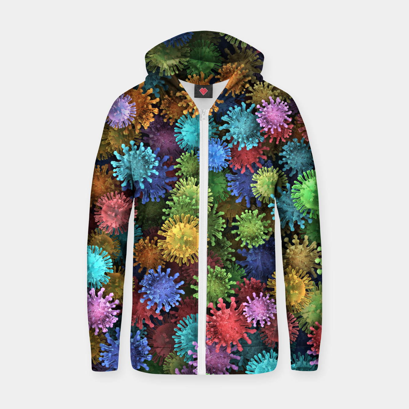 Image of Сolorful viruses Zip up hoodie - Live Heroes