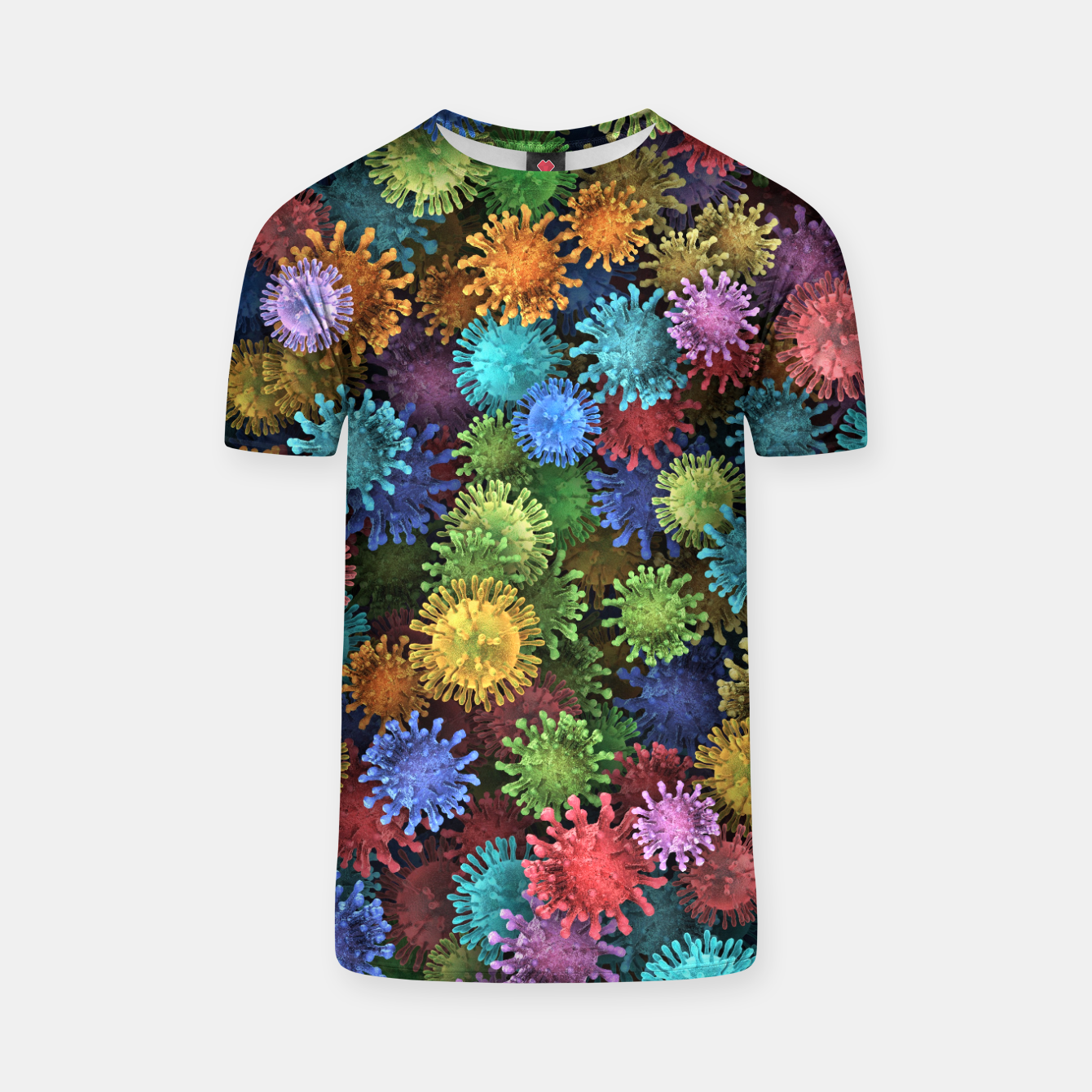 Image of Сolorful viruses T-shirt - Live Heroes