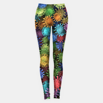Miniature de image de Сolorful viruses Leggings, Live Heroes