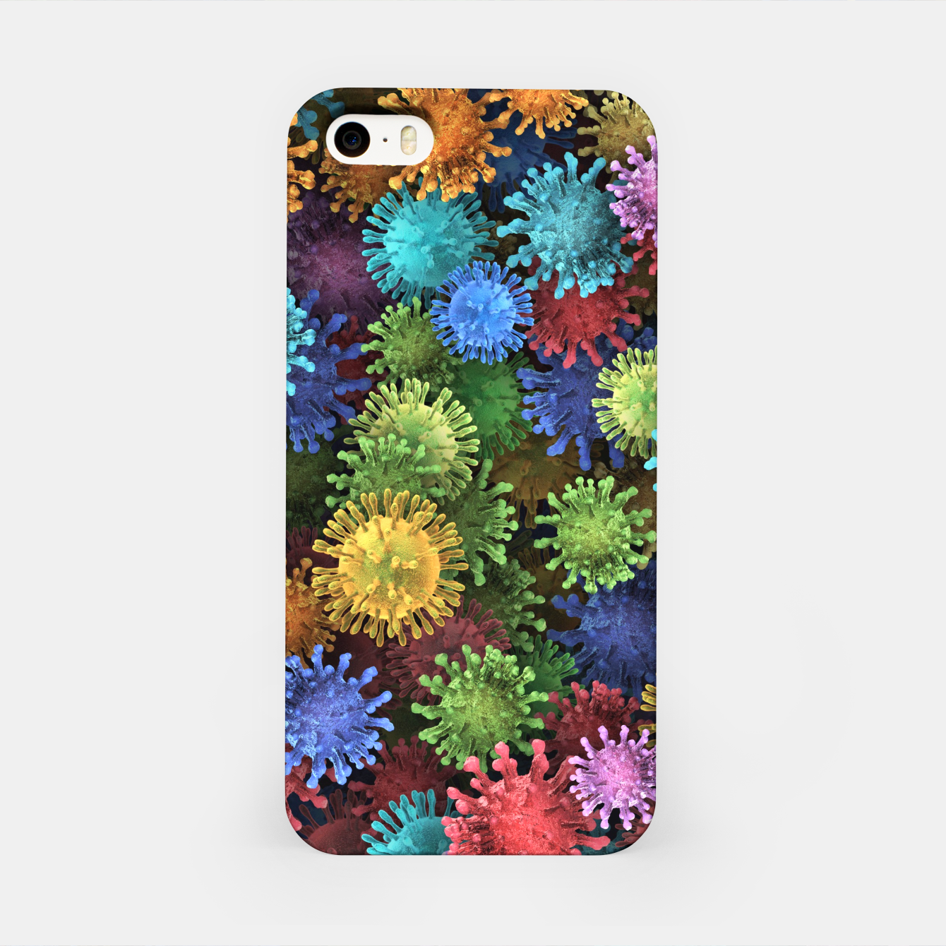 Image of Сolorful viruses iPhone Case - Live Heroes