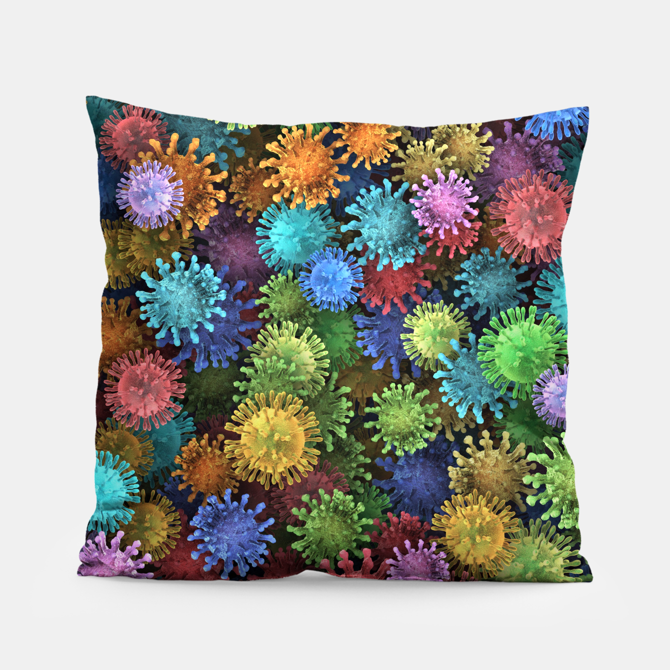 Image of Сolorful viruses Pillow - Live Heroes