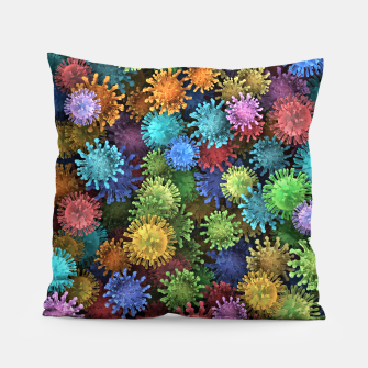 Thumbnail image of Сolorful viruses Pillow, Live Heroes