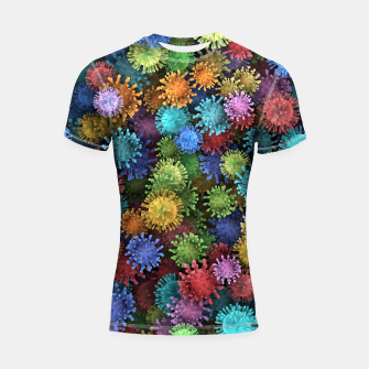 Thumbnail image of Сolorful viruses Shortsleeve rashguard, Live Heroes