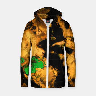 Thumbnail image of Interruption yellow Zip up hoodie, Live Heroes