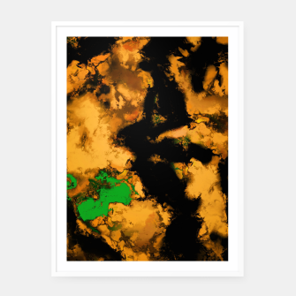 Thumbnail image of Interruption yellow Framed poster, Live Heroes