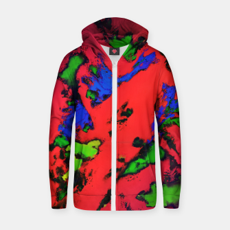 Thumbnail image of Shredded reflections Zip up hoodie, Live Heroes