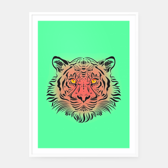 Miniatur Watermelon Tiger by #Bizzartino Framed poster, Live Heroes