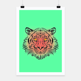 Miniatur Watermelon Tiger by #Bizzartino Poster, Live Heroes