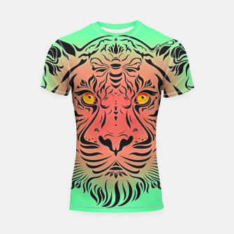 Thumbnail image of Watermelon Tiger by #Bizzartino Shortsleeve rashguard, Live Heroes