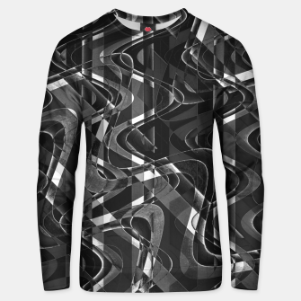 Thumbnail image of Black and White Geometric Print Unisex sweater, Live Heroes