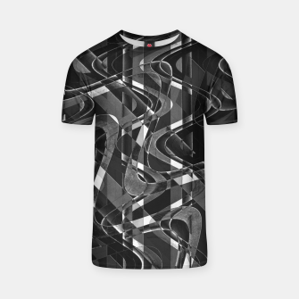 Thumbnail image of Black and White Geometric Print T-shirt, Live Heroes