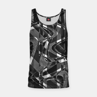 Thumbnail image of Black and White Geometric Print Tank Top, Live Heroes