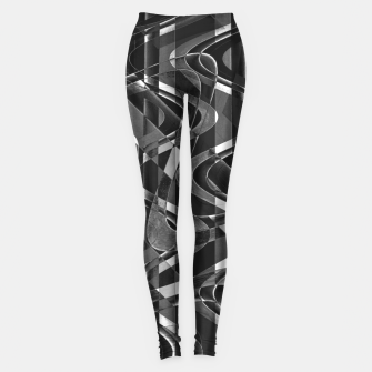 Thumbnail image of Black and White Geometric Print Leggings, Live Heroes