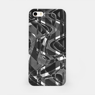 Thumbnail image of Black and White Geometric Print iPhone Case, Live Heroes