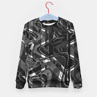 Thumbnail image of Black and White Geometric Print Kid's sweater, Live Heroes