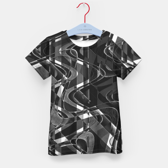 Thumbnail image of Black and White Geometric Print Kid's t-shirt, Live Heroes