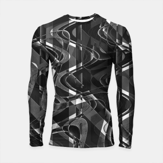 Thumbnail image of Black and White Geometric Print Longsleeve rashguard , Live Heroes
